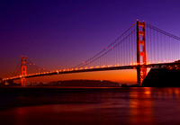Glowing Golden Gate